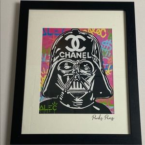 Alec star wars , Chanel framed Wall Art , Hype